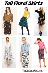 tall floral skirts for fall