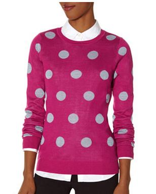 tall polka dot sweater
