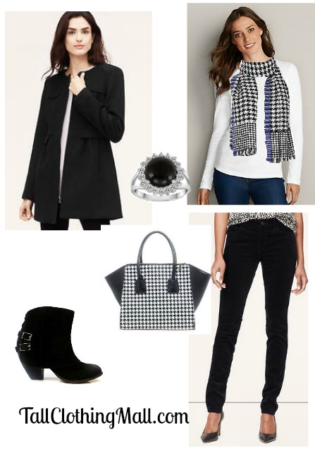 tall houndstooth outfit