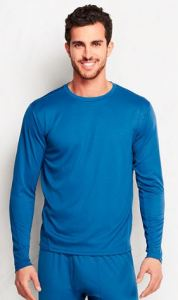 mens crewneck tall base layer top