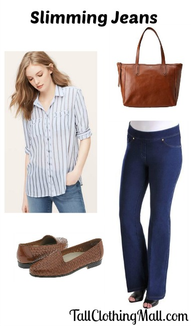 tall slimming jeans and outfit
