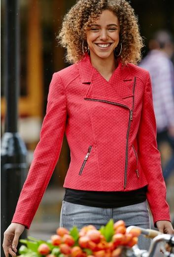 women's tall biker jacket