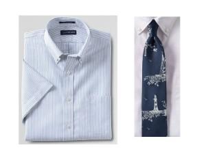 blue striped tall short sleeve shirt