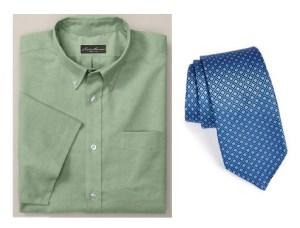 green tall dress shirt and tie