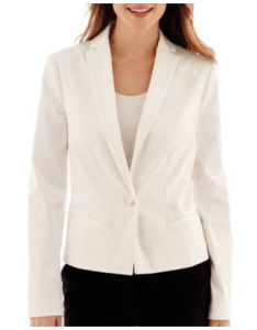 women's tall white blazer