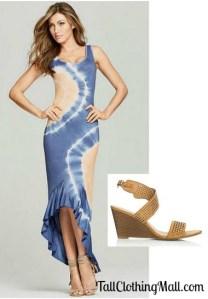 tie dye tall maxi dress