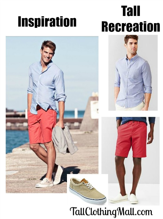 mens tall summer look