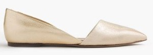 gold pointy toe flats