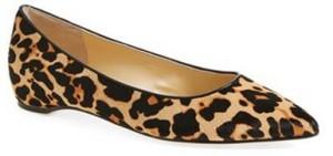 pointy toe leopard flats