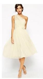 one shoulder tall dress