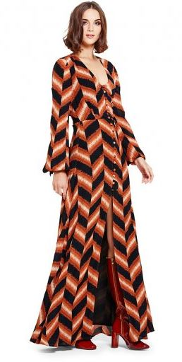 chevron tall maxi dress