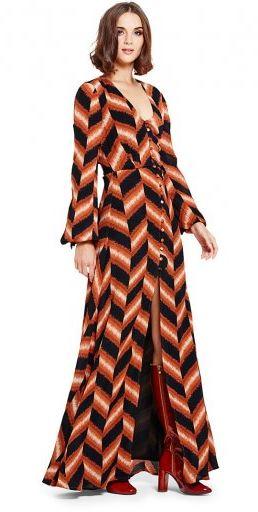chevron tall maxi dress