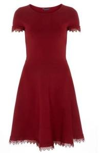 tall red dress