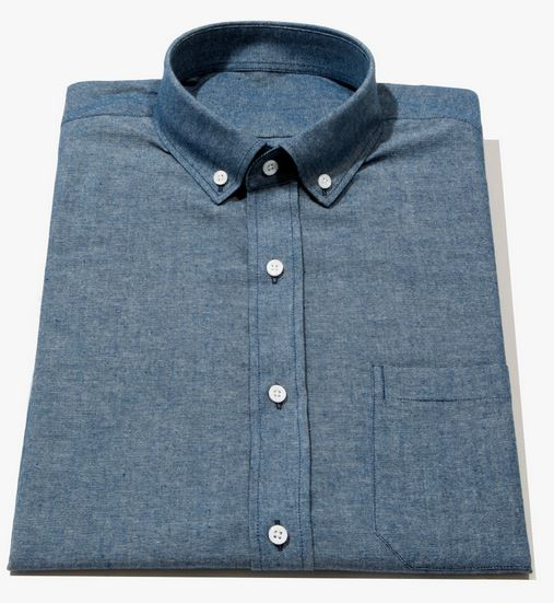men's tall chambray shirt