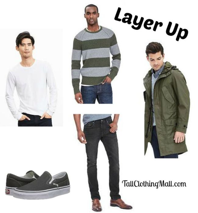 how to wear layers if tall