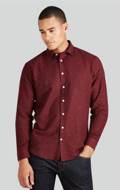 burgundy tall flannel shirt