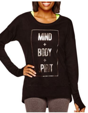 mind body and spirit tall sweatshirts