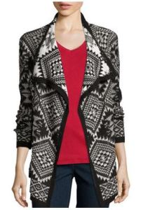 jacquard tall cardigan