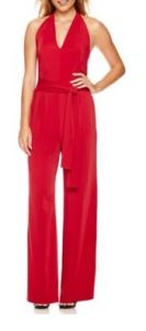 red tall jumpsuit