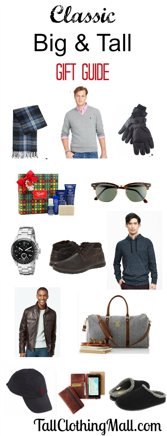 classic big and tall gift guide