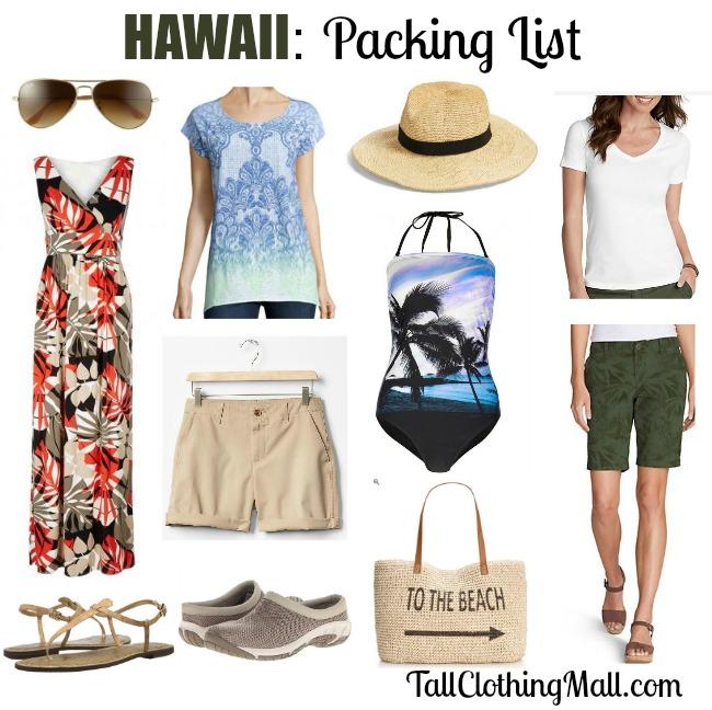 hawaii packing list tall