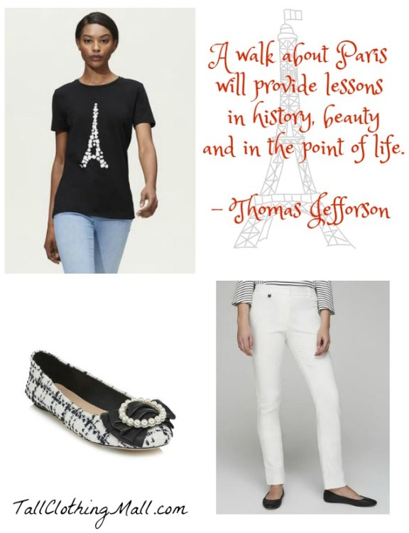 tall Paris outfit women
