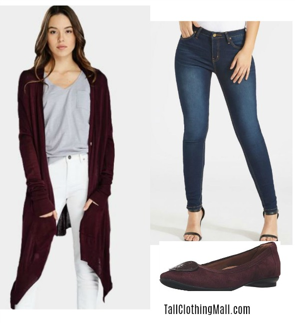 women's tall outfit for fall