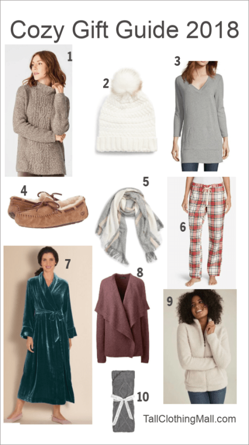 cozy tall gifts for women