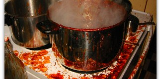 kitchen disaster: burnt batch of ketchup