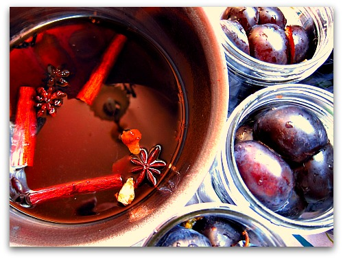 Plums in a Jar: Spicy, Spirited Keepers!