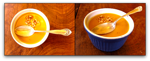 soup ramekin roasted pumpkin