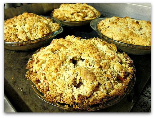 dutch apple pie fresh baked