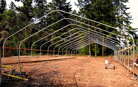 greenhouse structural steel skeleton