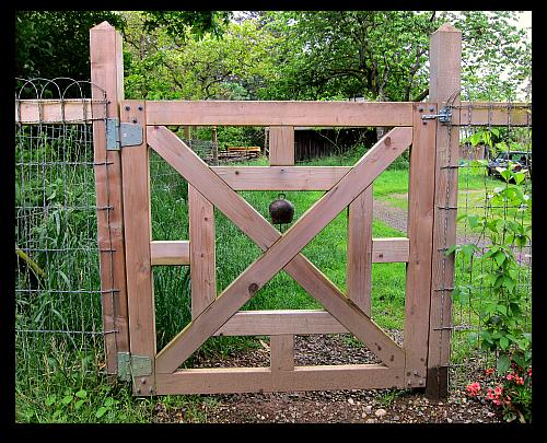 garden gate welcoming bell