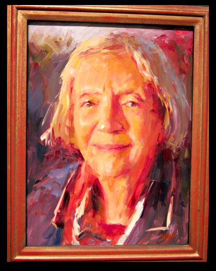 Pam Ingalls painting Nina