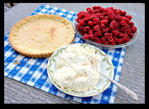 Easy sour cream berry tart