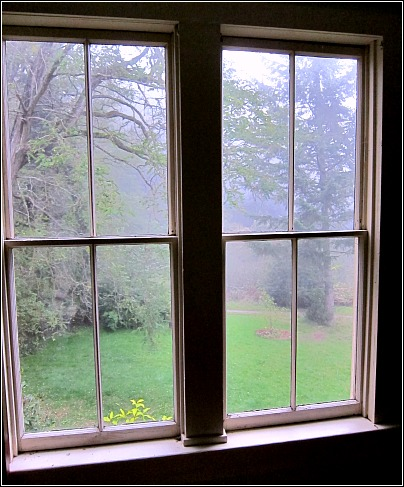 foggy view guest room Vashon Island