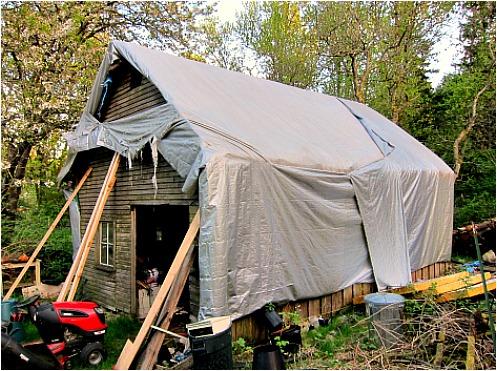 tarp roof barn