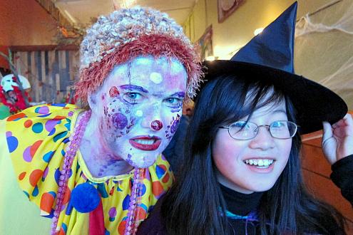 clown witch halloween