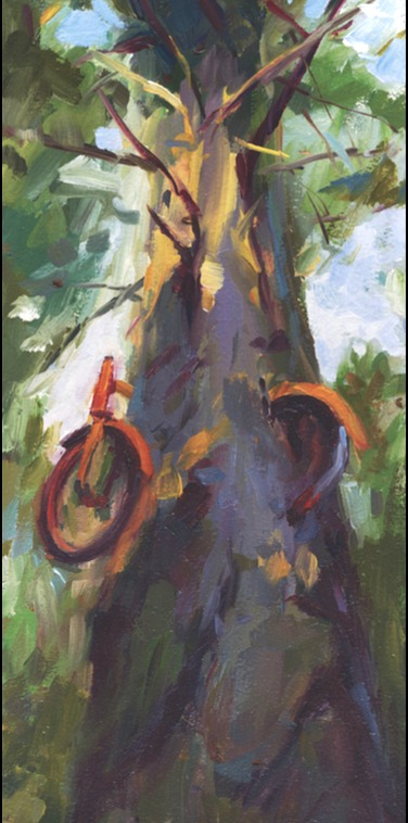 red bicycle tree pam ingalls