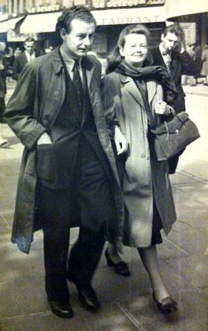 John and Nina, newlyweds in Paris
