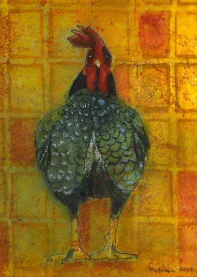 Marcia McKinzie chicken art chicken staycation