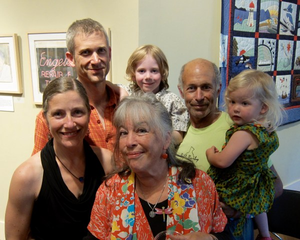 Karin and family enjoying Vashons First Friday Gallery Cruise