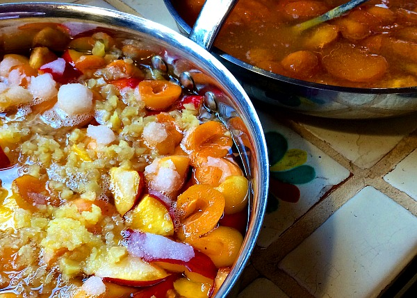 nectarine ginger jam mix