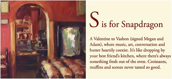 Snapdragon Bakery in V is for Vashon book