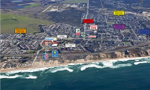 Aerial view Phase 2- Marina Landing Shopping Center- Marina, CA