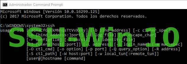 SSH en Windows 10