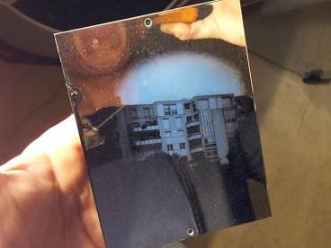 Spéos junio 2013, primer test con la camara 16,2 x 16,2 cm, con placa de 4x5 inches.