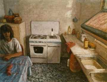 1. LA COCINA. Óleo sobre tela. 114x146 cm. Clases de pintura figurativa