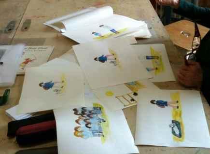 Corregir originales para libro de niños. Barcelona, clases de arte